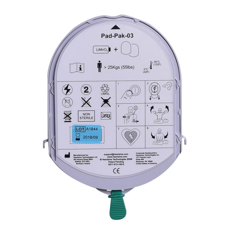 HeartSine Samaritan PadPak AED elektroden & batterij