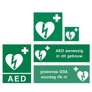 AED stickers en borden