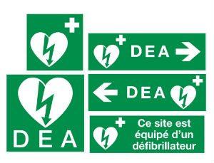 Autocollants et panneaux pour DEA