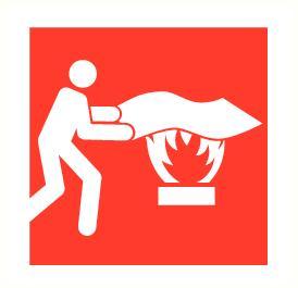 Symbolen brand bestrijden